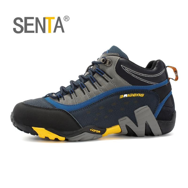 SENTA Men Women Mid-top Waterproof Leather Hiking Shoes Outdoor Trekking Boots Trail Camping Climbing Outventure Hunting Shoes