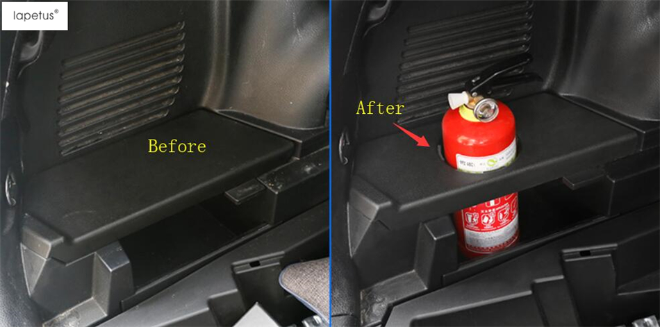 Lapetus Accessories For Toyota RAV4 RAV 4 2014 - 2018 Fire Extinguisher Cup Holder Case Molding Cover Kit Trim 1 Piece / Plastic lapetus accessories for toyota rav4 rav 4 2016 2017 2018 console central air condition ac outlet vent molding cover kit trim