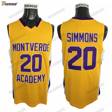 DUEWEER Mens  20 Ben Simmons Montverde Academy Eagles High School Basketball  Jersey Cheap Yellow Stitched c3a1b23ab