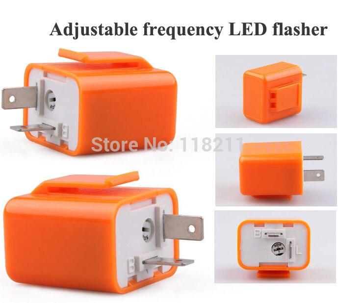 Motorcycle Turn Signal Beeper 6V 12V 2 PinMotorbike Flasher Relay Turn Signal Indicator Adjustable Frequency LED Flasher