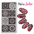 Nee Jolie 1 PC Rectangle Nail Art Stamping Plate Lace Flower Design Stamp Image Plate Hot Sale Nail Stamping Template Nail Tools