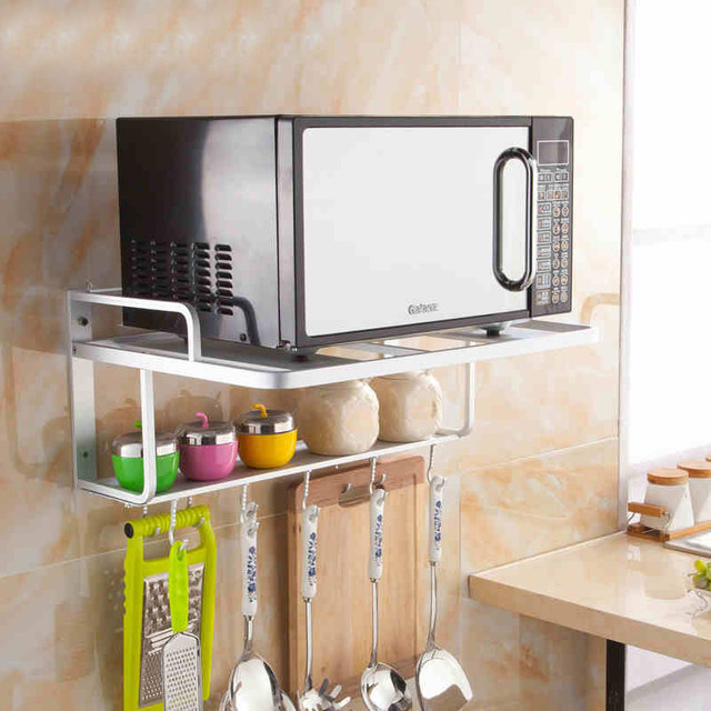 New Style Kitchen Shelf Wall Rack Microwave Oven Withstand 100kg High Quality Ds100