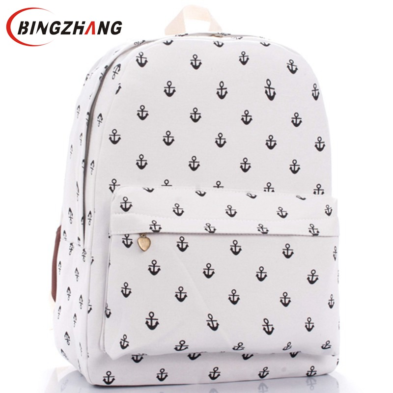 Unisex Canvas Teenager School Bag Book Campus Backpack Sea anchor bags Retail Free Shipping womens backpack Hot !!!  L4-72 mes ami ветровка