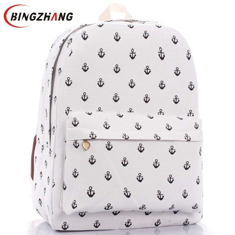 ᗑUnisex lienzo adolescente School la bolsa de libros campus mochila ...