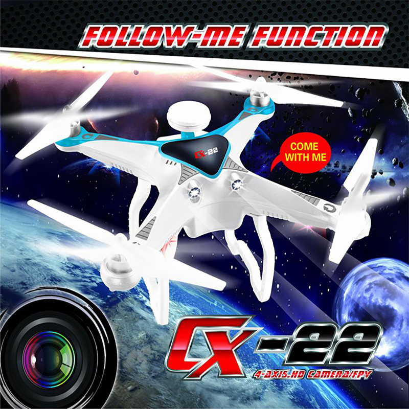 Cheerson CX-22 CX22 Follower 5.8G FPV 1080P Camera Dual GPS RC Quadcopter Brushless Gimbal Circle Hovering UFO RTF VS CX-20 CX20 f09166 10 10pcs cx 20 007 receiver board for cheerson cx 20 cx20 rc quadcopter parts