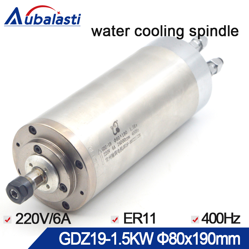 цена 1.5KW Spindle CNC Router Spindle Motor 220V ER11 6A 400HZ Water cooling spindle with diameter 80mm For CNC router machines