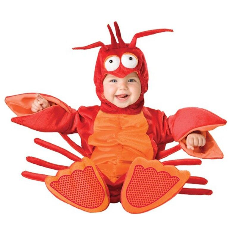 Nouveauté hiver haute qualité Halloween Costume bébé garçons filles barboteuse enfants vêtements ensemble bambin co-splay homard