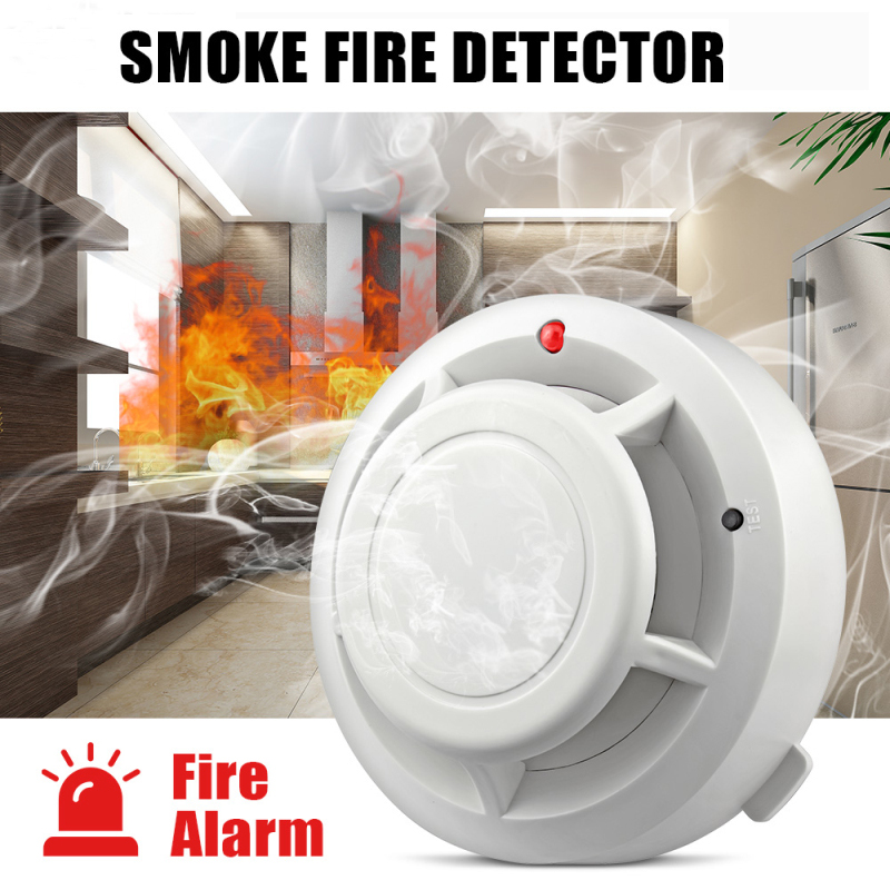 4 Type High Sensitive Stable Independent Alarm Smoke Detector Home Security Wireless Alarm Smoke Detector Sensor Fire Equipment