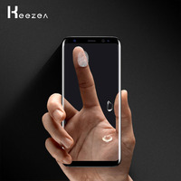 Keezea 100 PCS Tempered Glass For Samsung Galaxy S9 S9 Plus Full Cover High Transparent For