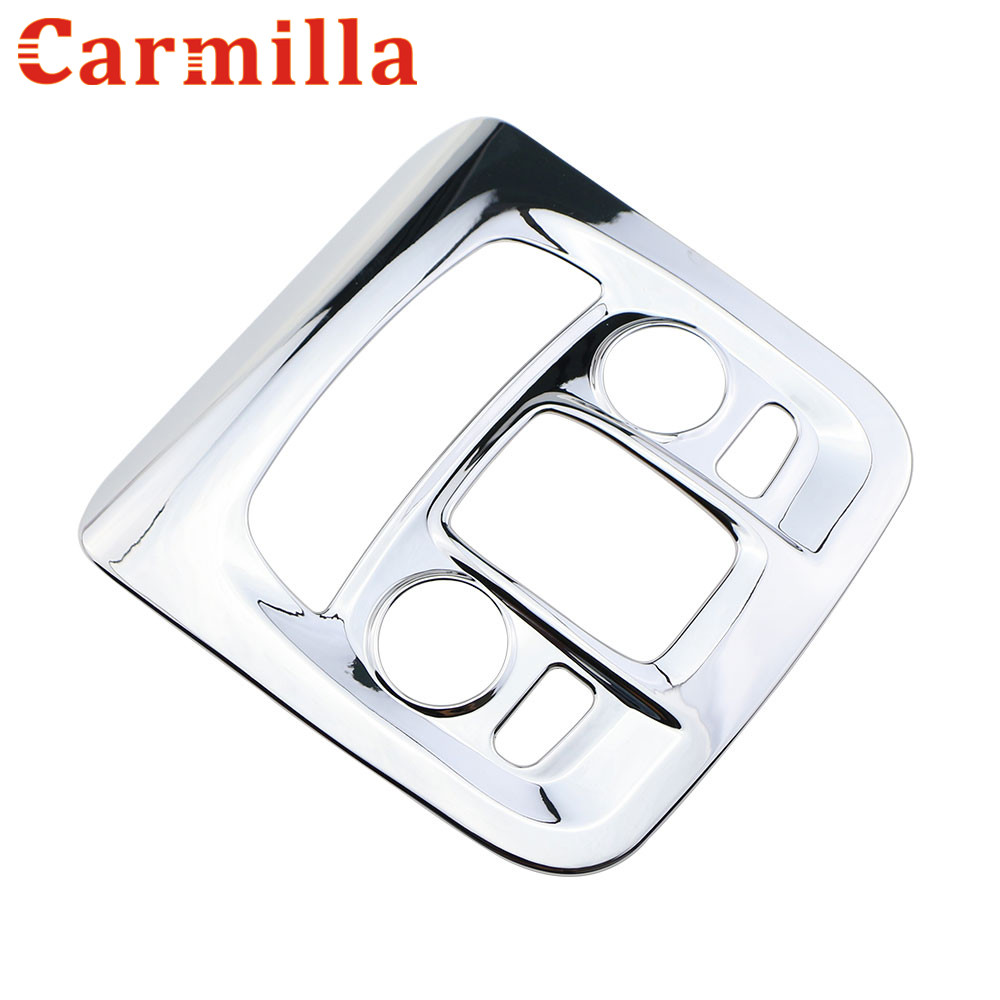 Carmilla ABS Chrome Car Reading Lamp Lights Cover Sequin Stickers for Peugeot 2008 208 2014 - 2017 Modified Accessories reading literacy for adolescents