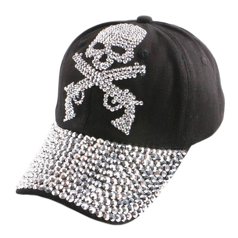 c3873a7f437d5 Nuevo hip hop populares mujer SnapBack punk estilo pistola cráneo patrón  mujeres chica hombres novedad sombreros gorras de béisbol deportes al aire  libre ...