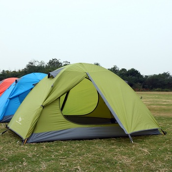 Outdoor Tent Camping Tent Professional Hand with Ultra-light 3 - 4 People Double Deck Windproof Waterproof double 20d silicon coated four seasons ultra light camping outdoor tent