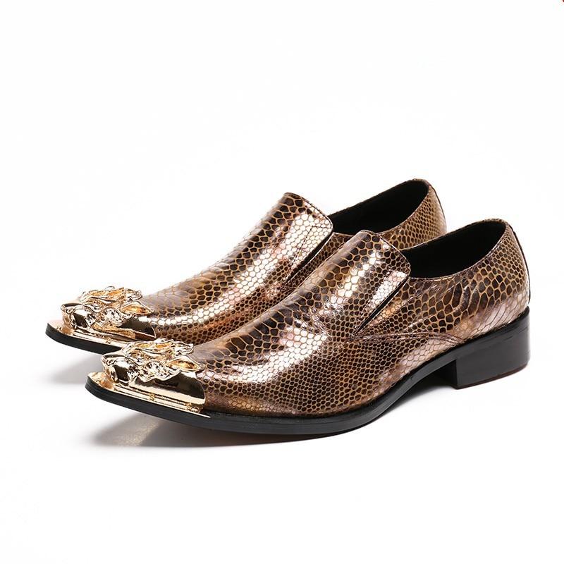 9ce93eea86516c Hommes Zapatos Show Hot Doux Or Nouveau Chaussures Cuir D'affaires Hombre  Bureau Mode Printemps Qualité En De Appartements Véritable ...