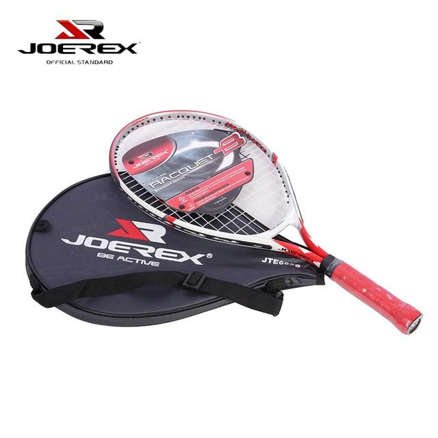 """Joerex 1pcs 23"""" Size Aluminum Alloy Training Tennis Racquet Beginner Racket with Sports Shoulder Bag"""