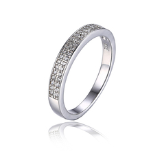 JewelryPalace Basic Cubic Zirconia Anniversary Channel Set Wedding ceremony Band Eternity Ring 925 Sterling Silver Jewellery For Ladies