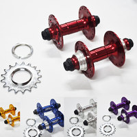 High quality famous brand CNC aluminum Fixed gear bmx hub 4 sealed bearing 32 bearing bike hubs