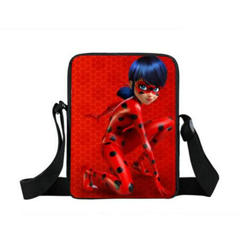 Kids Cartoon Handbags Anime Miraculous Ladybug Shoulder Bag Cat Marinette Boys Girls Mini Messenger Bags Children School Bags girls mini messenger bag cute plush cartoon kids baby small coin purses lovely baby children handbags kids shoulder bags bolsa