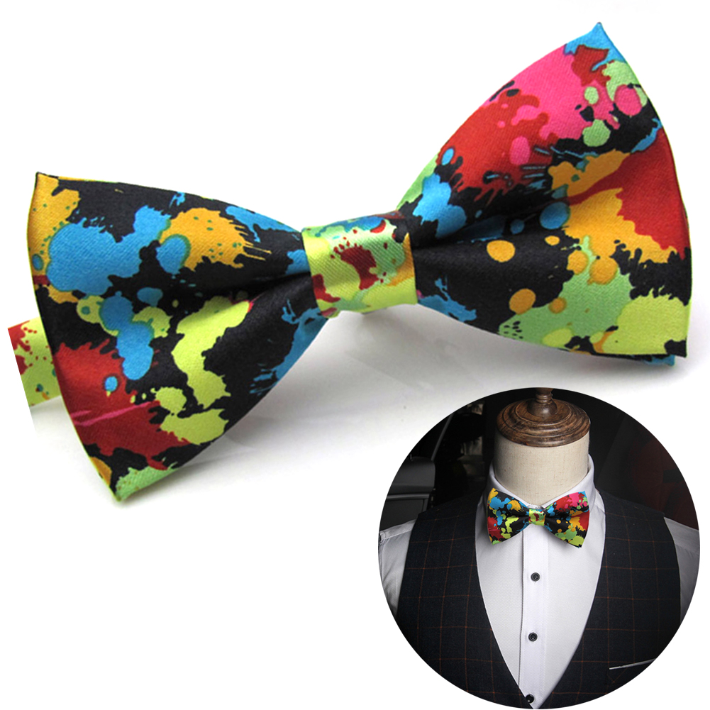 Newest Charming Adjustable Polyester Silk Colorful Butterfly Printing Men Women Bow Ties Parties Wedding Formal Occasions
