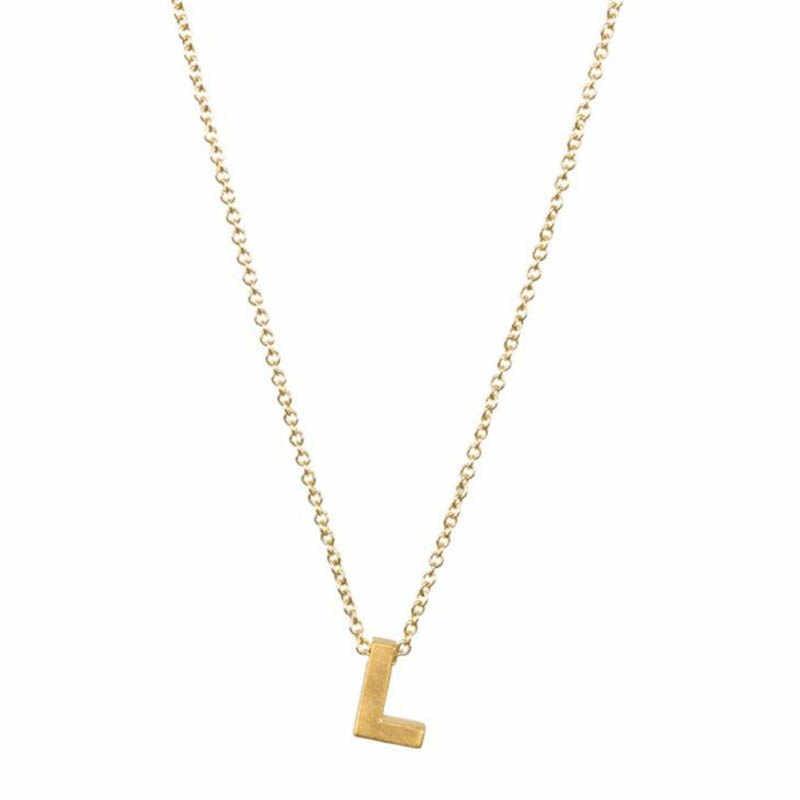 אופנה זעיר מעדן ראשוני אישית מתכת 26 מילת אלפבית מכתב אהבת תליון שרשרת לנשים צווארון תכשיטי מתנה