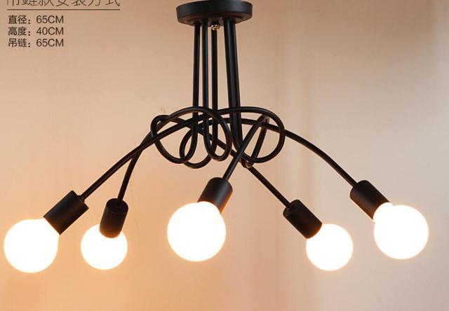 Loft moderno personalità creativa semplice illuminazione a