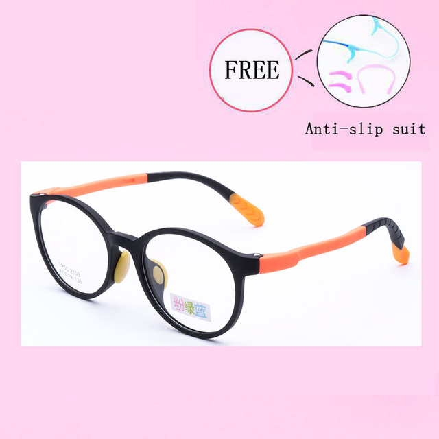 d3b2e4a9955 Children Eyeglasses Impact resistance Boy Girl Flexible Lightweight Soft  Spectacle Frames For Prescription Glasses TR90 Y2103