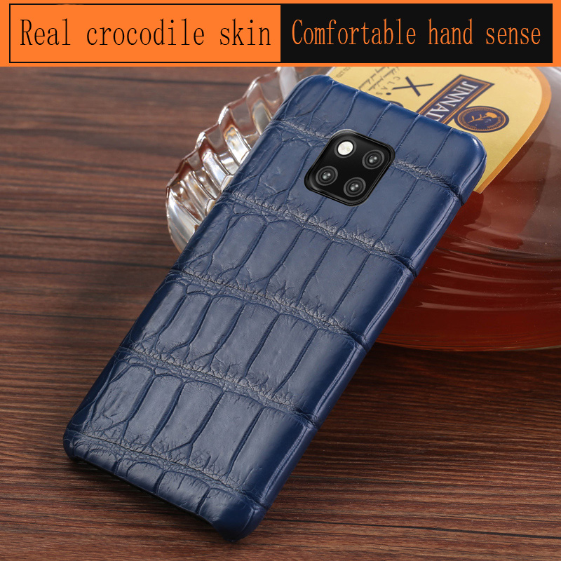 Tout compris antichoc téléphone étui pour huawei compagnon 20 10 pro compagnon 9 pro Crocodile peau individualité Plaid étui de protection