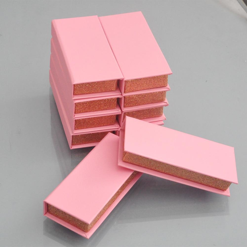 100/pack Custom Lash Boxes Packaging Eyelash Box With Logo Faux Cils 3d Mink Eyelashes Strip Square Magnetic Case Bulk Vendors