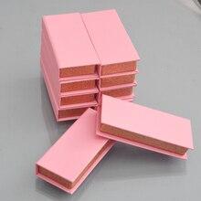Boîte personnalisée pour faux cils, emballage personnalisé, avec logo, pour les cils, vison, bande magnétique carrée, 25mm, 100/paquet