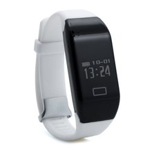 H3 Bluetooth 4.0 IP67 водонепроницаемый Oled-дисплей smart watch браслет Сердечного ритма шагомер (белый)