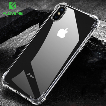 FLOVEME For iPhone X XS Max Case Shockproof Ultra Thin Transparent Soft Silicone Phone Case For iPhone XS XR Cover Coque Funda