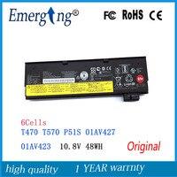 10.8V 48Wh New Original Laptop Battery for lenovo ThinkPad T470 T570 P51S 01AV427 01AV426