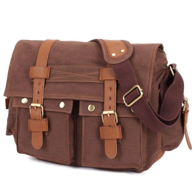 07c3180e44bb Холщовая Сумка через плечо мужская Военная армейская винтажная сумка  мессенджер Повседневная повседневные дорожные сум