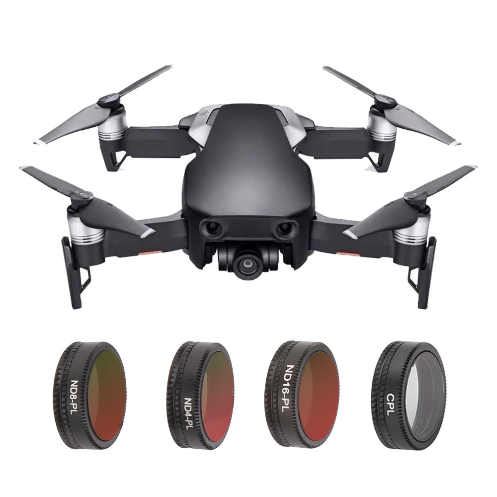 TELESIN 4 Pcs Waterproof ND-PL ND4/PL ND8/PL ND16/PL Filters,Circular Polarizer Filter for DJI Mavic Air Drone CameraAccessories цены онлайн