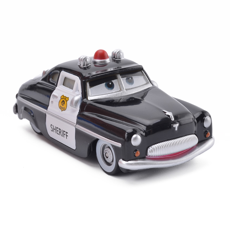 1:55 Brand Disney Pixar Cars Sheriff Metal Diecasts Toy Vehicles Disney Cartoon Figures Police Car Models Toys Children Gift