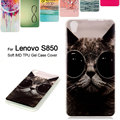 TPU Soft  Case for Lenovo S 850 Colorized Phone Bag Soft IMD TPU Back Case for Lenovo S850 5.0 inch