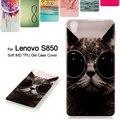 Tpu soft case para lenovo s 850 colorized saco do telefone imd tpu macio volta case para lenovo s850 5.0 polegadas