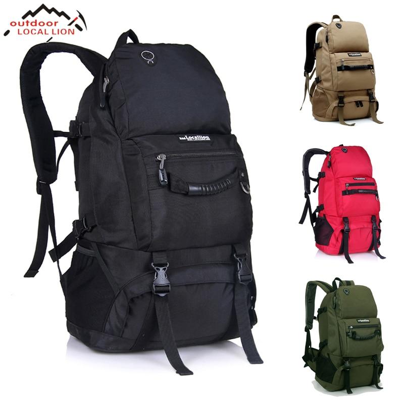 Outdoor 50L Sports Bag  Large Capacity Men Travel Bag Mountaineering Backpack Hiking Camping Waterproof Bag 51783 packs multifunctional tactical backpack bag 50l large capacity outdoor travel bag mountaineering bag