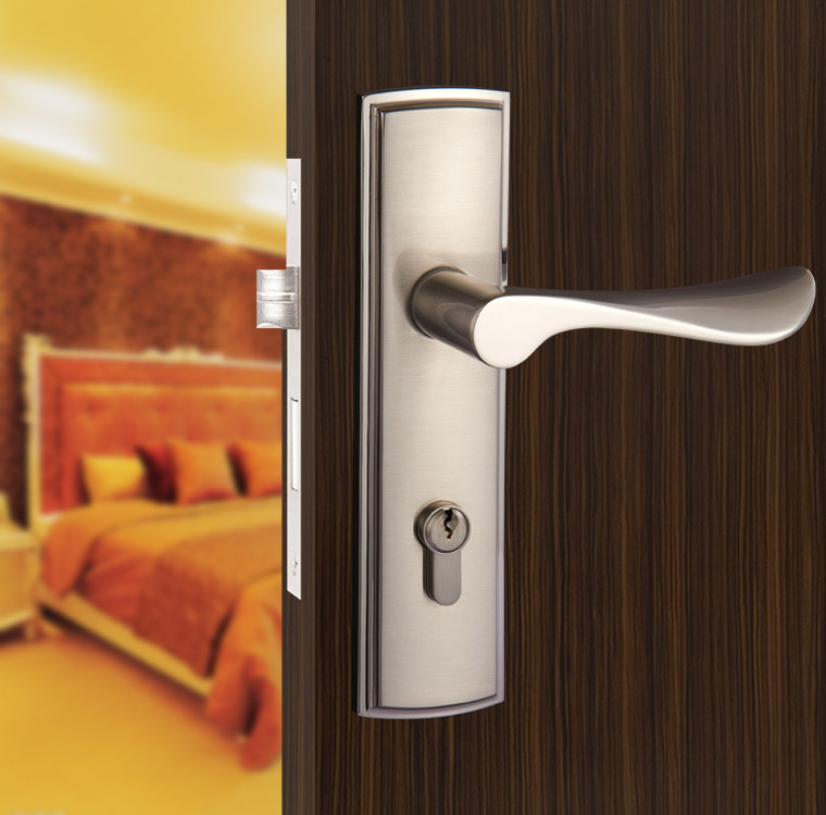 Buy New Aluminum Material Interior Door Lock Living Room Bed