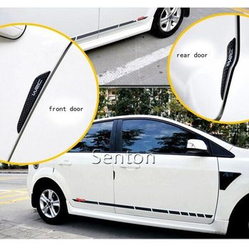 Car Fiber Door Side Edge Protection Sticker For Ford Focus 2 3 Fiesta Mondeo Kuga Fusion Toyota Corolla Avensis Auris Yaris rav4 exhaust tips on jaguar xe