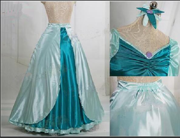 f9be99683d103 The Little Mermaid Cosplay Princess Ariel Costume Women's Dress Length  Skirt Rode Evening Dress Wedding Gown on Aliexpress.com | Alibaba Group