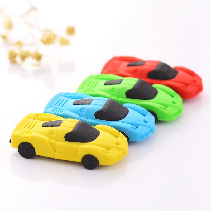 4Pcs Promotions Car Styling Pencil Eraser Students Writing Supplies Eraser Rubber Creative Gifts Toy School Supplies