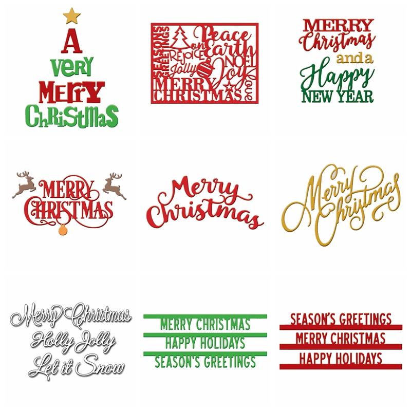 Christmas Letters.Us 2 37 30 Off 9sets Merry Christmas Letters Metal Cutting Dies Stencil For Diy Scrapbooking Christmas Decorative Embossing Dies Scrapbooking In