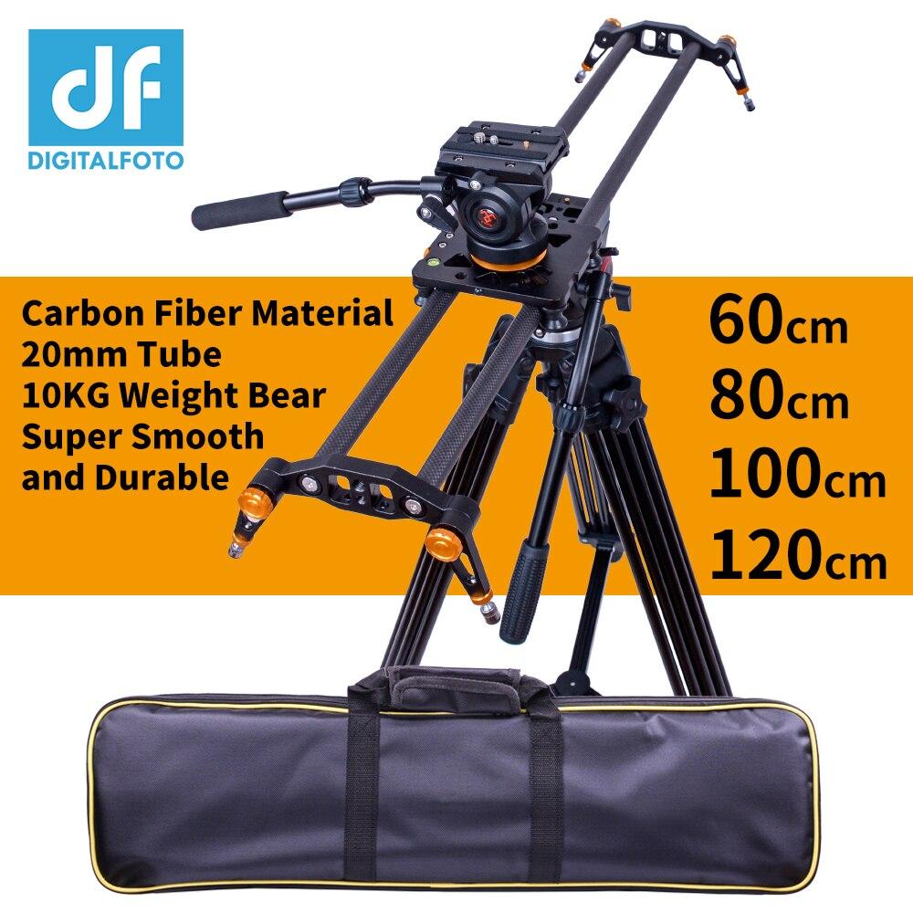 DIGITALFOTO d'appareil-photo de fiber de Carbone curseur 10 kg ours voyage vidéo curseur traveling dslr rail pour Nikon Canon Sony vidéaste