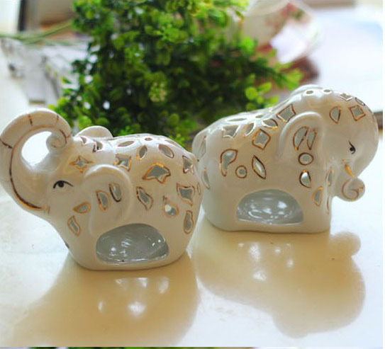 Lovely elephant animal decorations home 2 pieces lot made for Elephant decorations for home