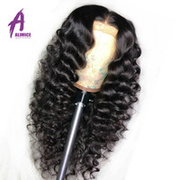 Lace Frontal Wig Pre Plucked With Baby Hair Malaysian Loose Wave Human Hair Wigs Alimice Remy Hair Lace Front Wigs 6 26inch