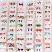 10pair/pack beautiful stud earrings Jewelry For Women Wedding Party gifts Fashion crystal earrings (Mix style)