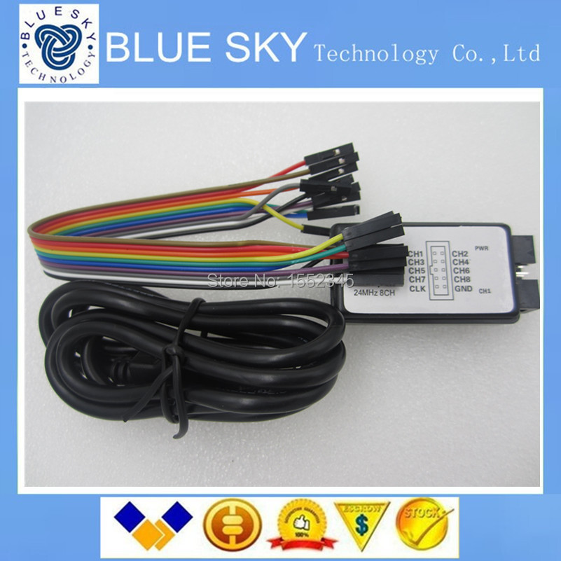new 1sets New Arrival USB Logic Analyze 24M 8CH MCU ARM FPGA DSP debug tool