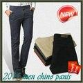 Muy barato de la alta calidad Chinos hombres Chino pantalones hombres pantalones hombres pantalones casuales de algodón barato hombres pantalones para hombre pantalones