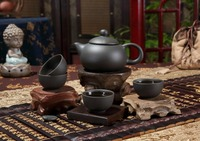 Teapot Purple Clay Pot Chinese Kungfu Tea Sets Drinkware Tea Cups Party Gifts Ceramic Coffee Tea