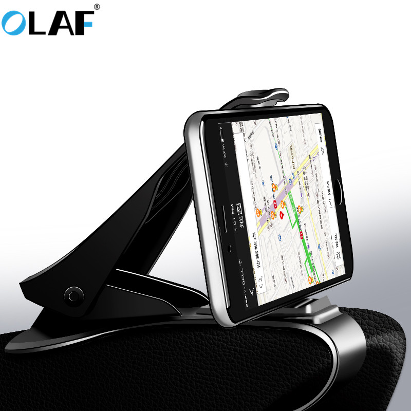 Universal Car Phone Holder Stand Adjustable Clip Car Soft Anti Slip Mobile Phone Holder GPS Bracket For Iphone Samsung Xiaomi